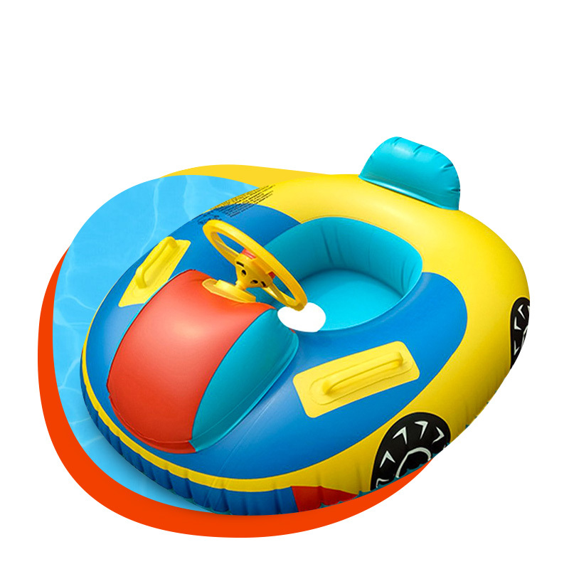 Children swimming safety float seat inflatable car