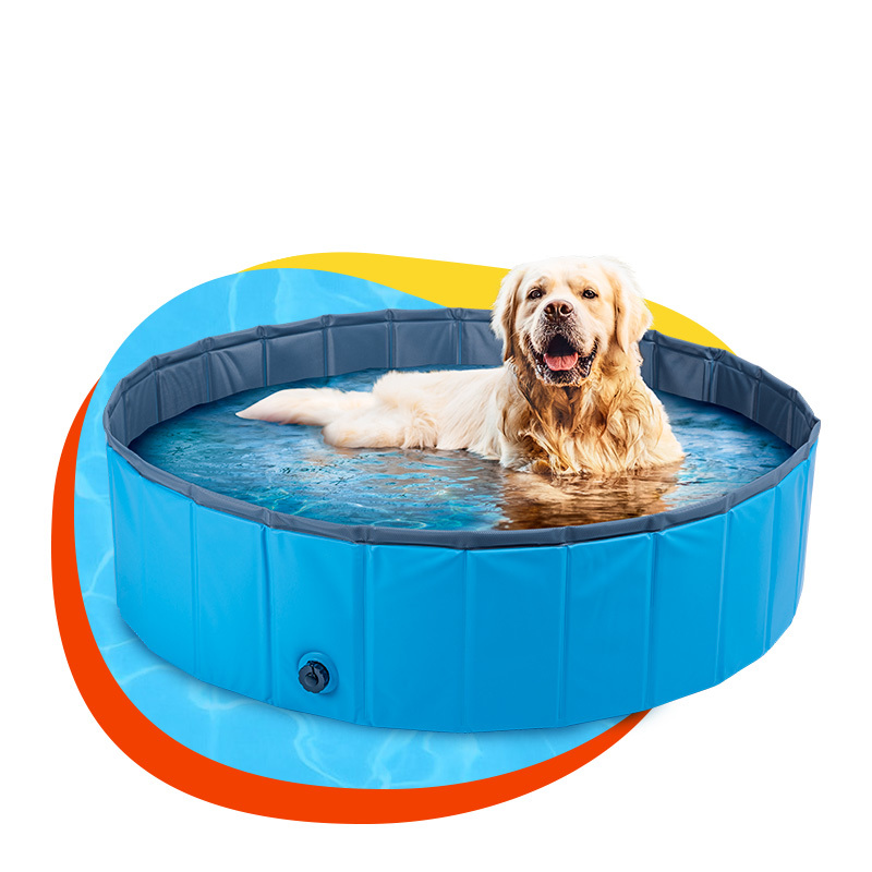 PVC folding portable pet dog and cat swimming pool bath basin