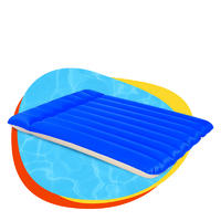 Eco-friendly pvc inflatable camping indoor fashion flocked air mattress