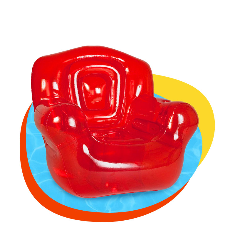 Custom top quality pvc inflatable indoor fashion chair sofa