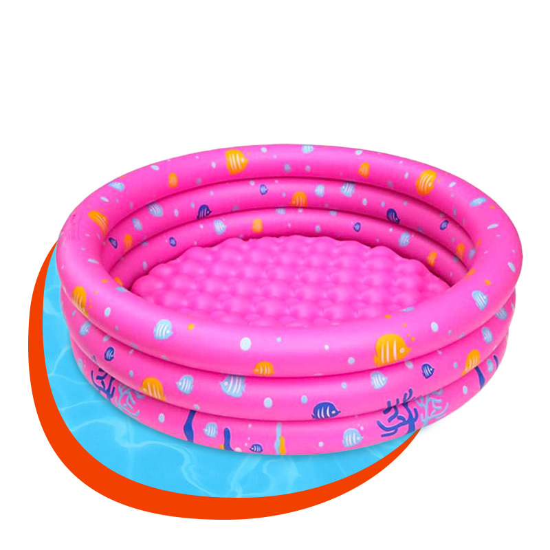 Phthalate-Free PVC colorful three ring baby swimming pool