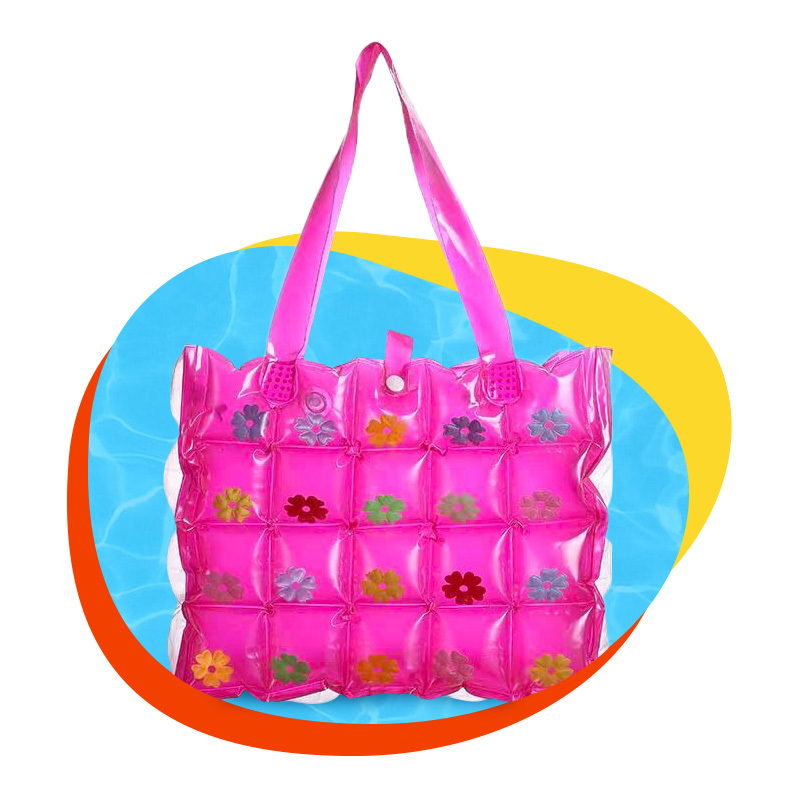 Custom stylish multi-style PVC inflatable beach backpack