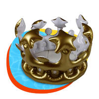 Custom pvc crown inflatable toys for party