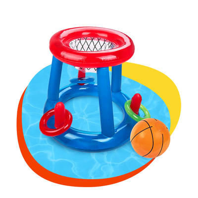 Cool inflatable basketball hoop swimming pool toys for kids