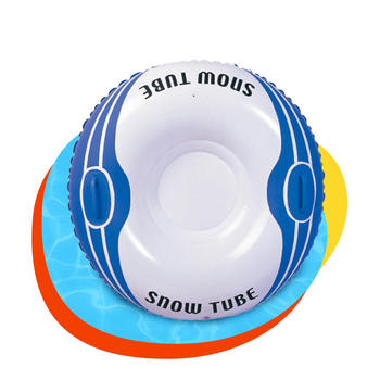 PVC inflatable snow tube cold resistance thickening snow ring solo sled