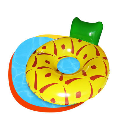 Pineapple watermelon lemon inflatable  adult swimming pool float seat