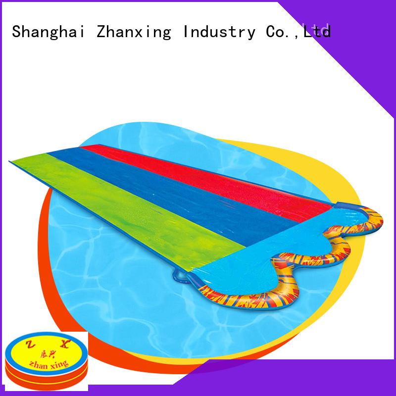 Zhanxing best quality backyard water slide solution expert for importer