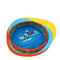 PVC children's cartoon three-ring inflatable swimming pool