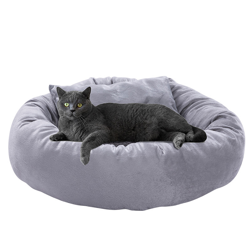New Arrival Factory Cheap Donut Portable Removable Cover Round Large Cat Dog Beds