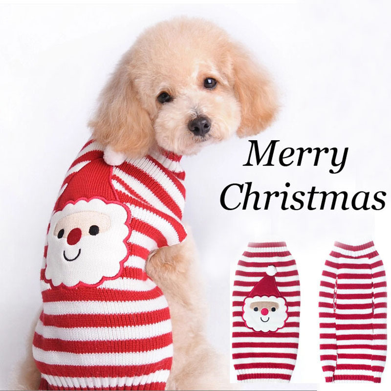 Wholesale Striped Warm Dog Sweater Dog Clothes
