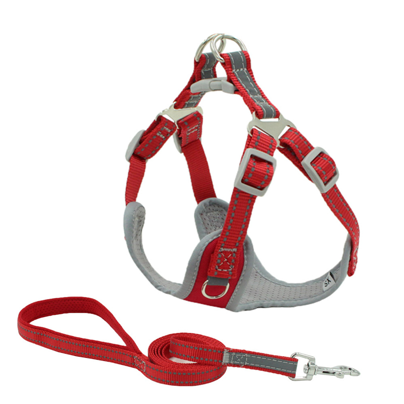 Dog Body Tactical Harness Padded Tactical Rope Set Reflective Vest