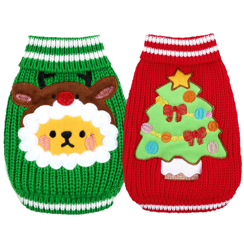 Wholesales From China Elk Christmas Luxury Winter Dog Sweater Dog Clothes