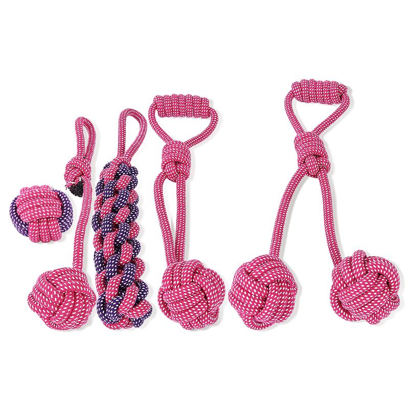 Factory Cheap Set Chew Interactive Knitting Cotton Rope Ball Dogs Toy