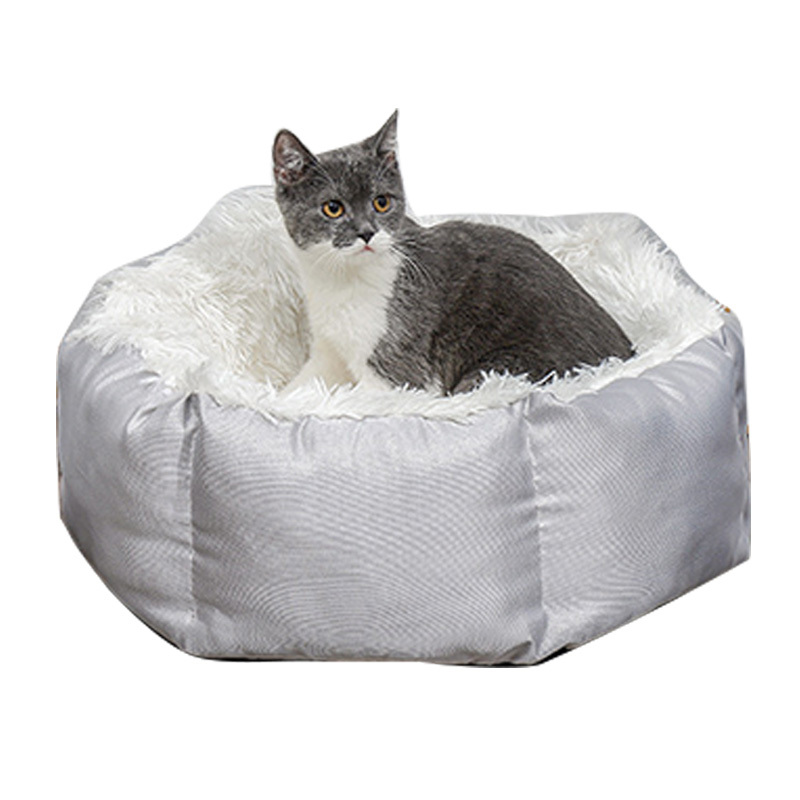 New Arrival Factory Cheap Round Fluffy Dog Cat Pet Bed
