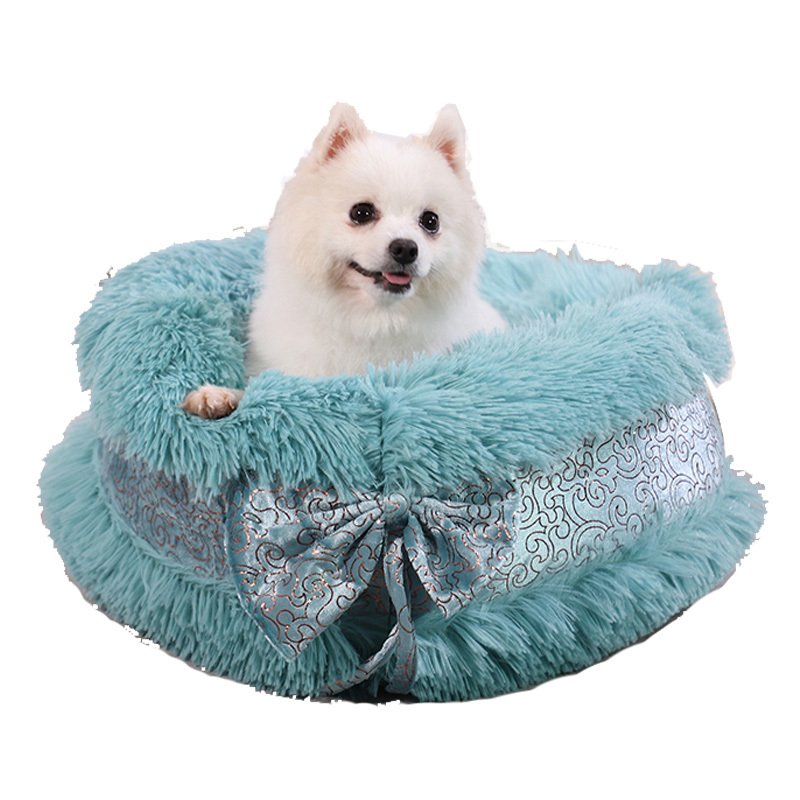 New Arrival Factory Fashion Designer Comfortable Large Fluffy Luxury Pet Dog Beds