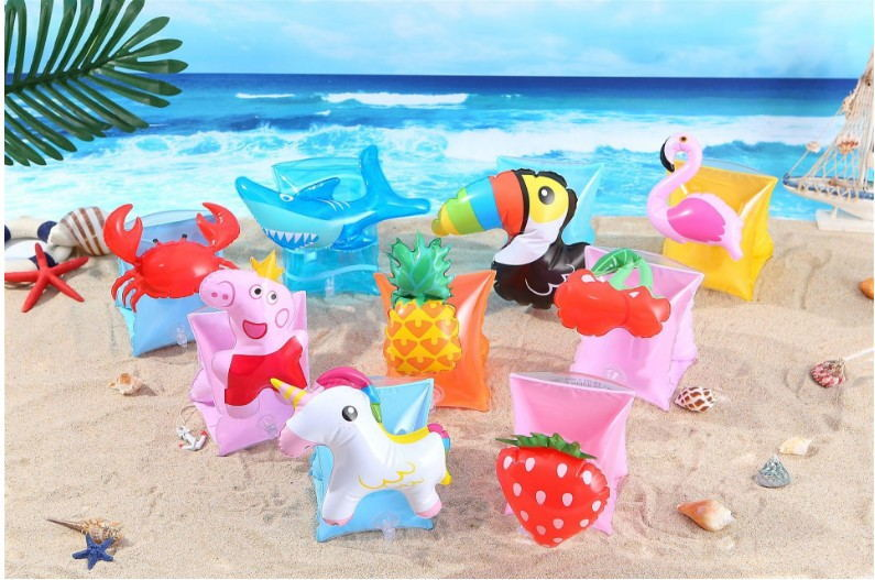 Environment-friendly PVC inflatable swimming animal shaped arm hand ring