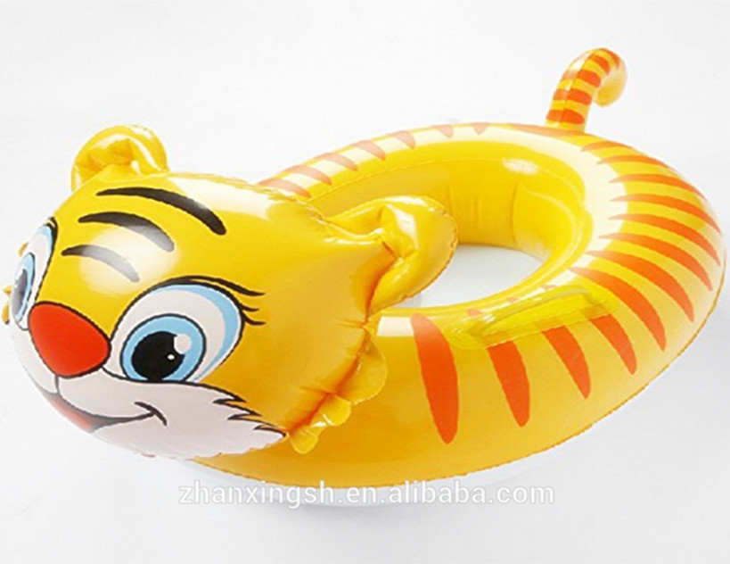 Newest Special Idea Lovely Tiger PVC Inflatable Water Baby Car Seat Pool Float Toys For Kids