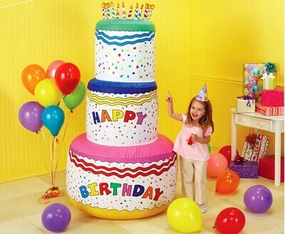 Best Selling Inflatable Birthday Cake Inflatable Promotion Toy