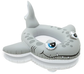 Baby Float for Pool with Sitting area Pool Float Boat Inflatable Shark Baby Swimming Ring