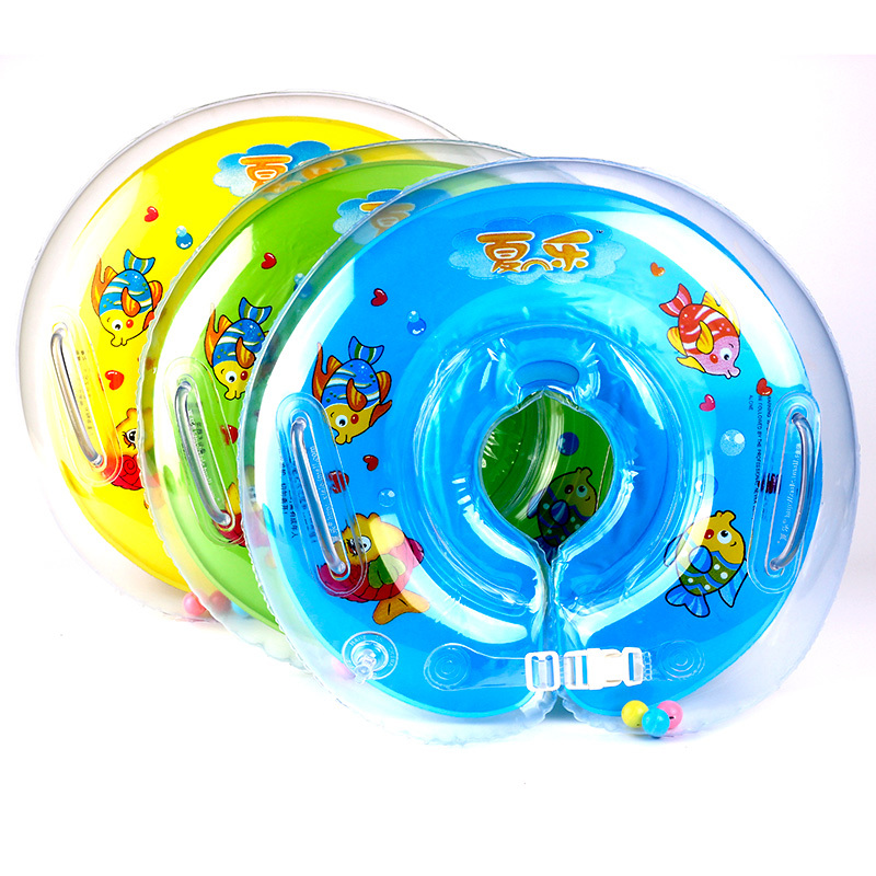 Safety Cartoon Neck Support Inflatable Baby Swimming Collar Ring